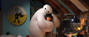 """""""BIG HERO 6"""" — Pictured (L-R): Baymax & Hiro. ©2014 Disney. All Rights Reserved."""